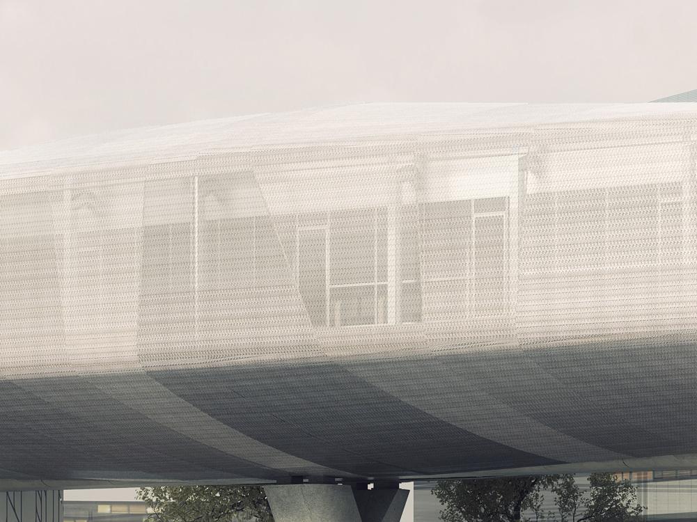 Cesson-Viasilva - Détail de la façade