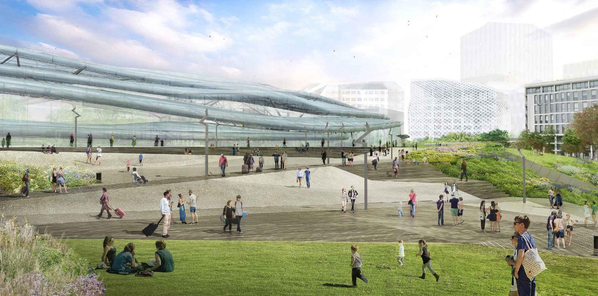 Paysage construit - Place de la Gare