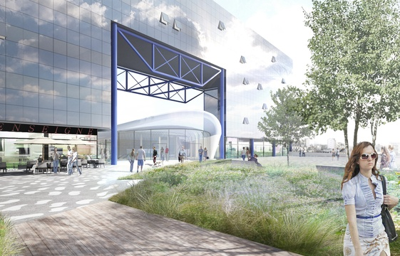 Paysage construit - Parvis Sud - Vue vers la gare 4