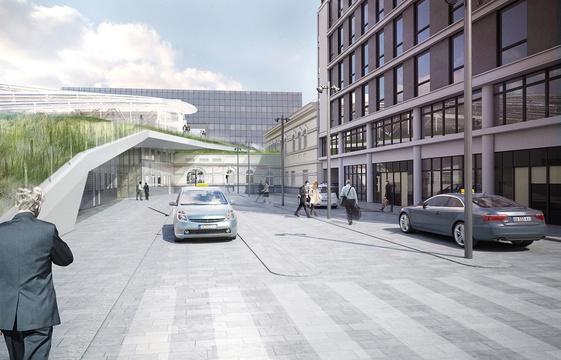 Paysage construit -  Nouvelle station de taxis