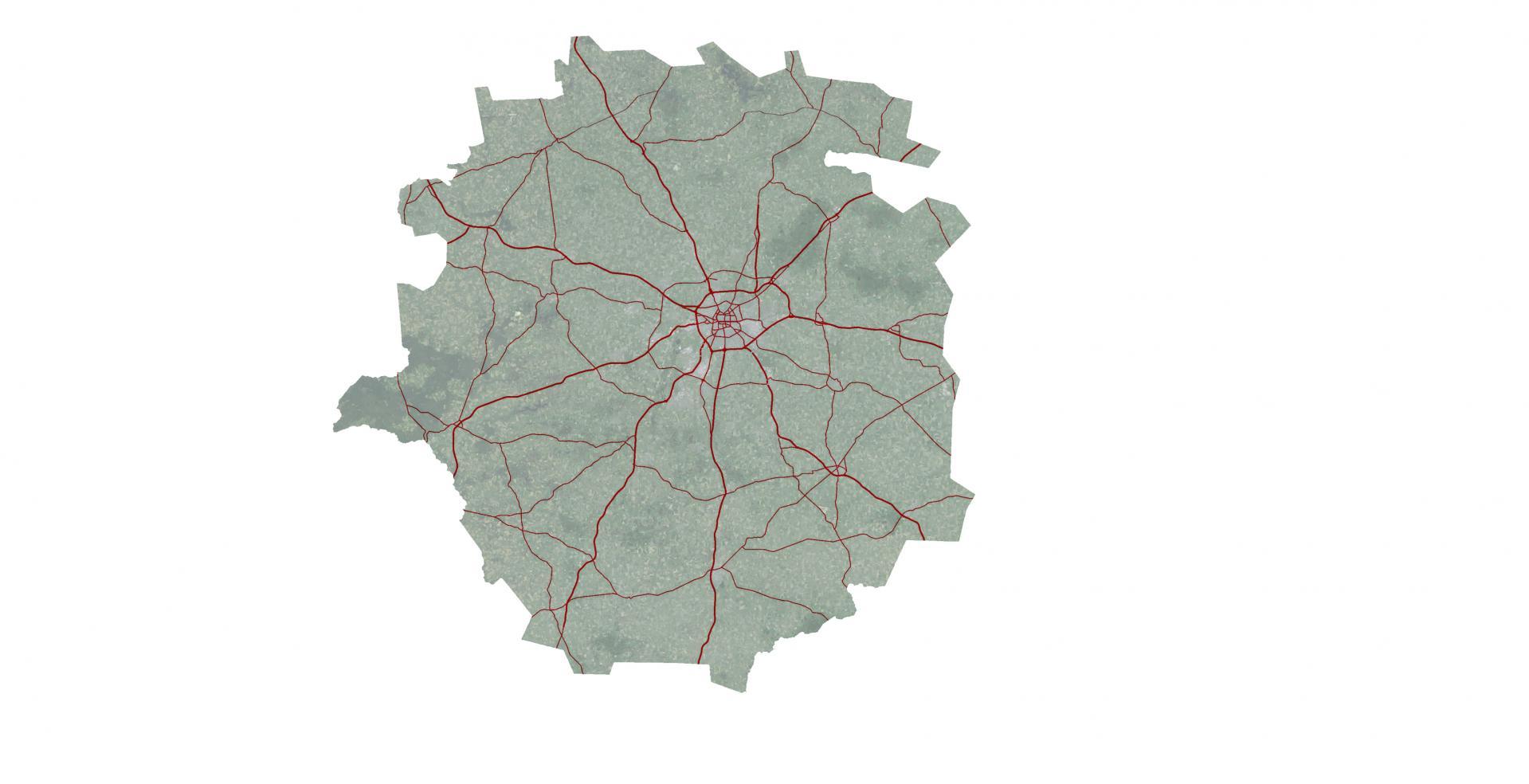 Aire Urbaine - RENNES - Routes © URBA-Rennes