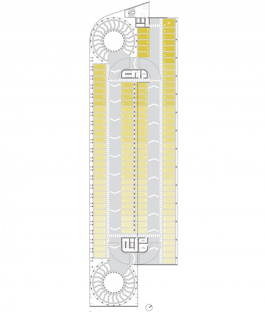 Parc Relais - Plan de l'étage courant