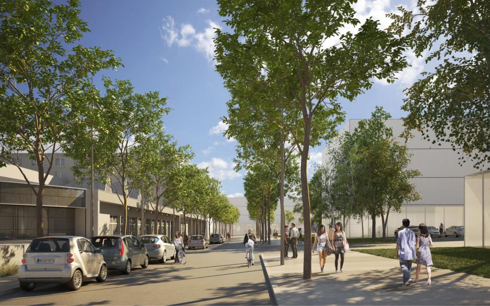 CHU - Arrivée depuis le Villejean © Agence Emmanuelle Colboc & Associés