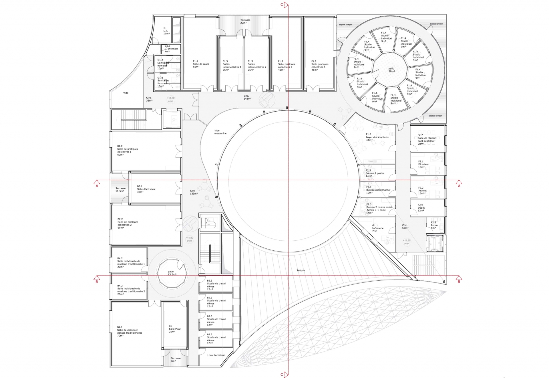 Conservatoire - Plan 4 ©Tetrarc