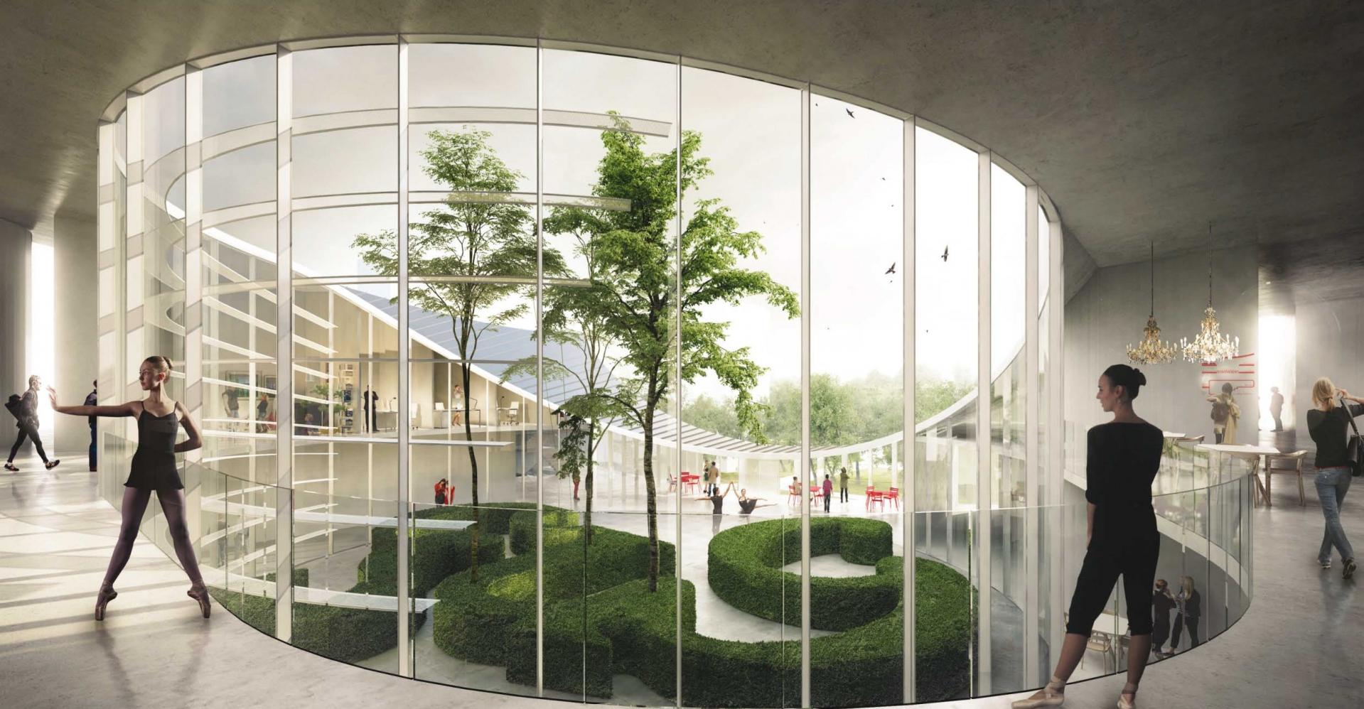 Conservatoire - Vue du patio © Tetrarc