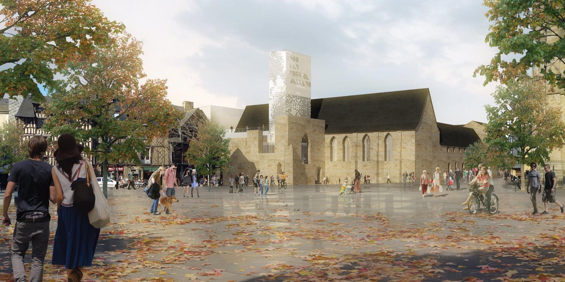 Couvent des Jacobins - Vue depuis la Place Sainte-Anne © Jean Guervilly