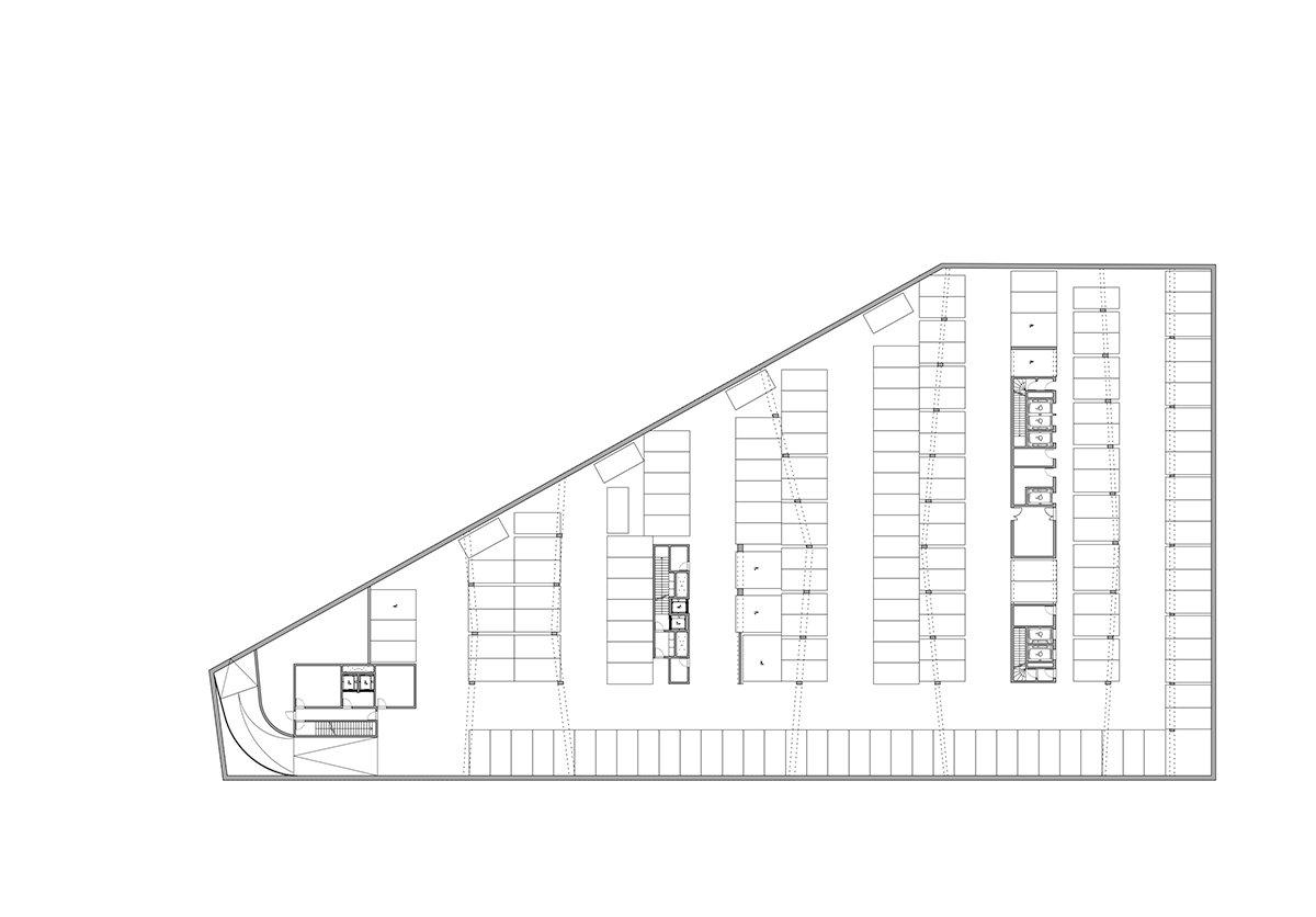 Îlot Beaumont - Plan du sous-sol © Kempe Thill, Atelier 56S, Dots paysagistes