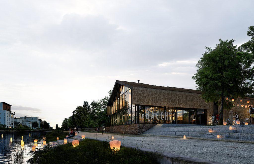 Le bacchus vue berge phenome architecture