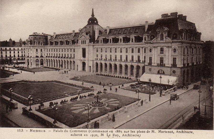 Le Palais du commerce en 1910 © Jean-Baptiste Martenot et Emmanuel Le Ray