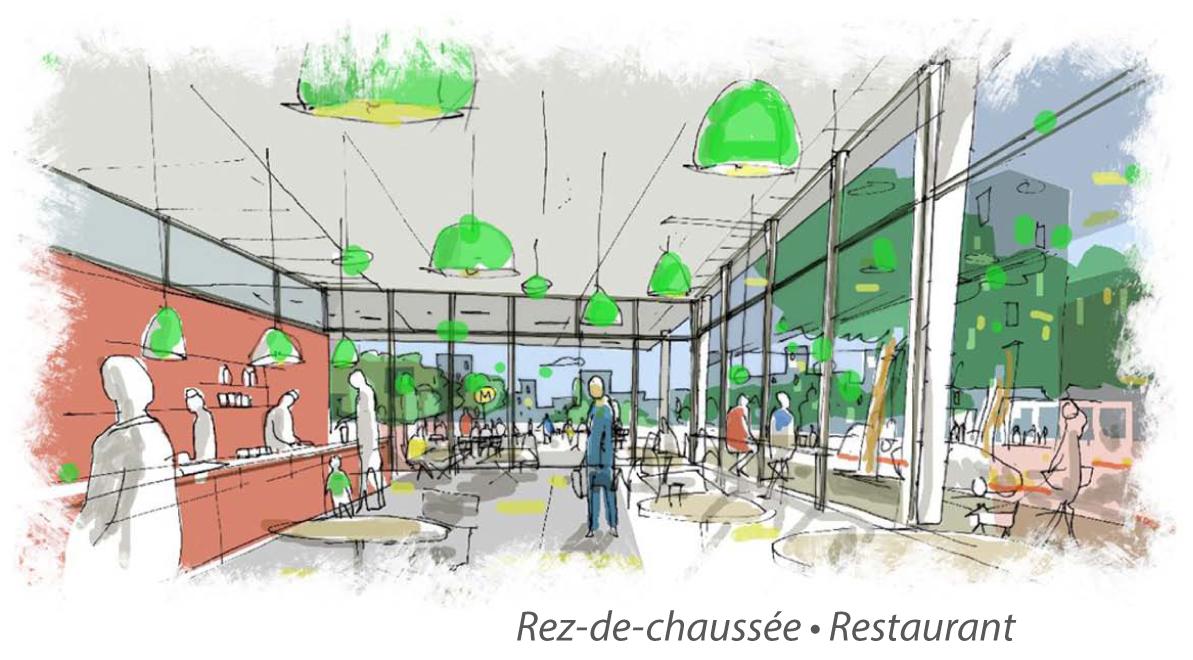 Le Quadri - Vue du restaurant © Atelier du Canal