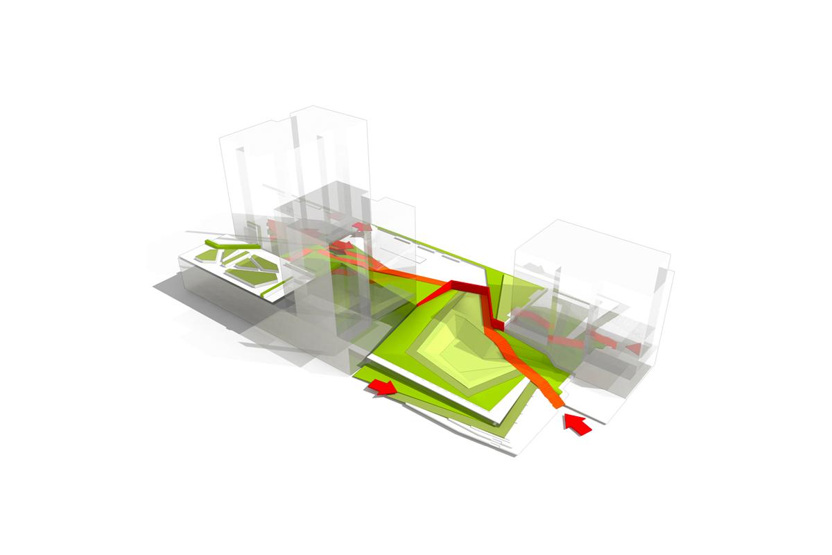 Lot D8 - Axo espaces extérieurs © Line-Up