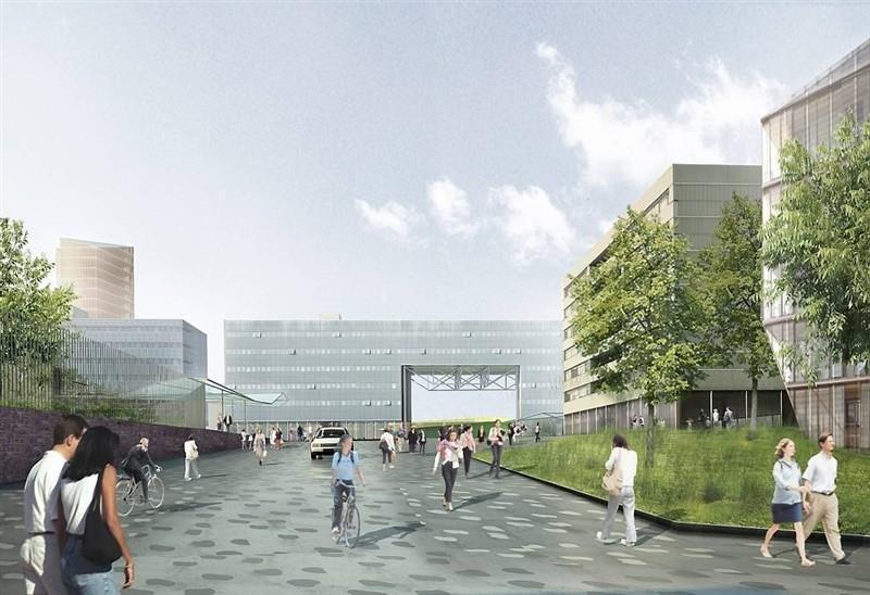 Paysage construit - Parvis Sud - Vue vers la gare 3