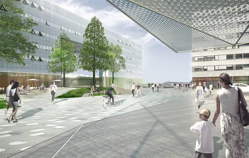 Paysage construit - Parvis Sud - Vue vers la gare 2