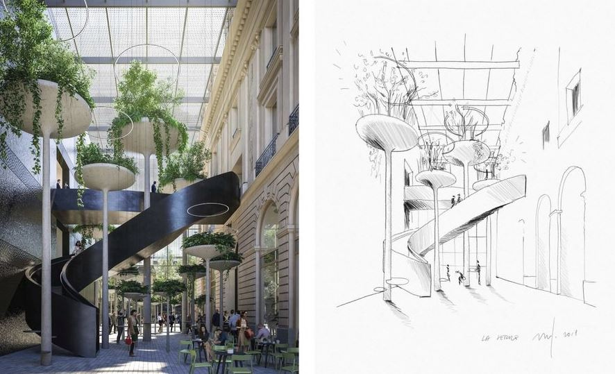 Palais du commerce - Passage couvert © MVRDV + Desmoulin