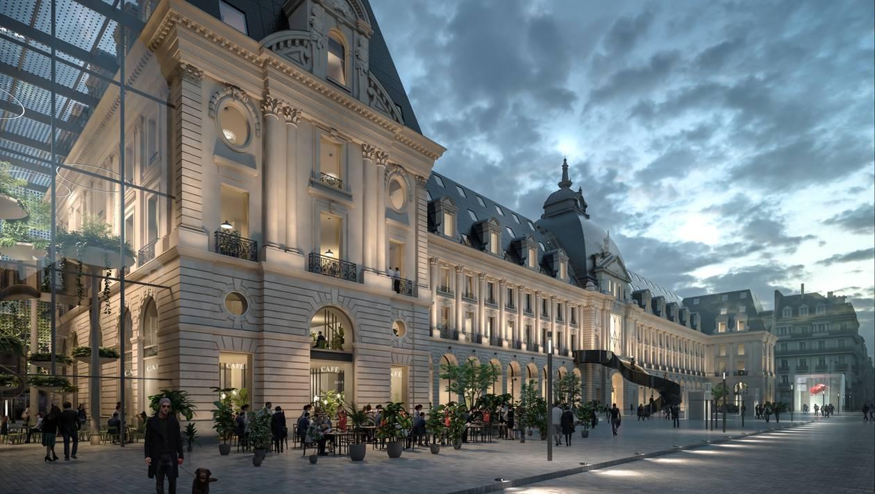 Palais du commerce - Vue depuis la Place de la République © MVRDV + Desmoulin