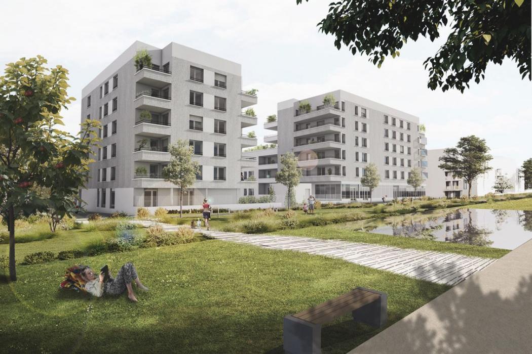 Patio Sévigné - Perspective Nord-Est © Lemérou Architecture