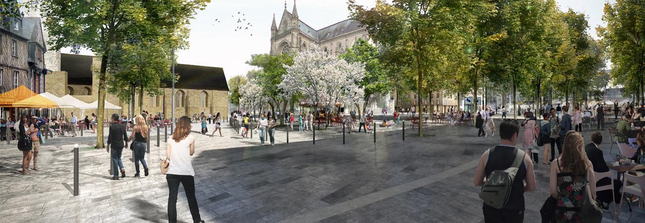 Place Sainte-Anne - Vue depuis la Rue Saint-Michel © Ilex
