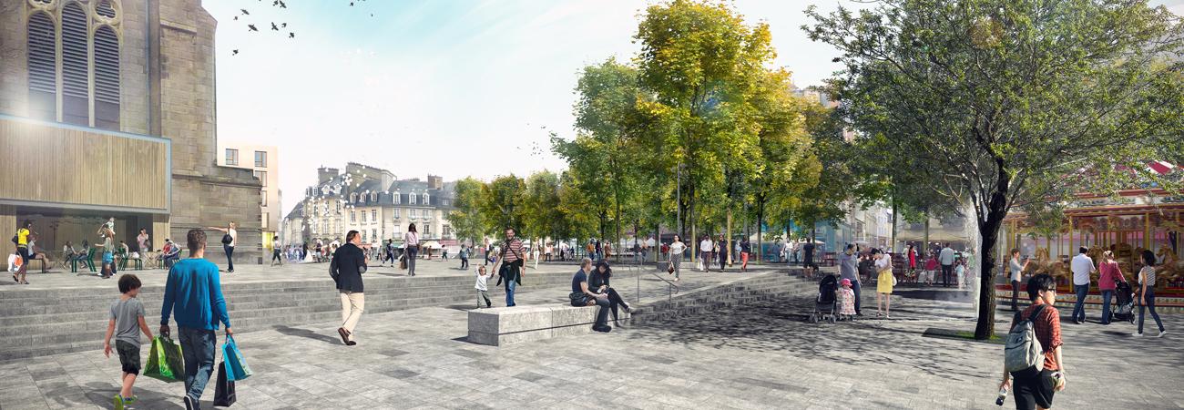 Place Sainte-Anne - Vue depuis le Couvent des Jacobins © Ilex