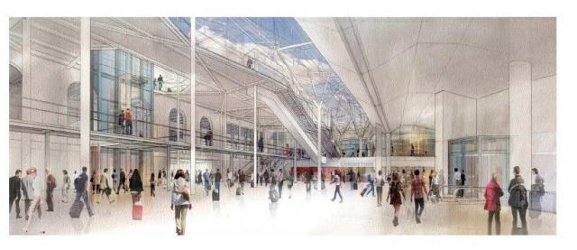 PEM - Vue hall d'échange - Niveau métro