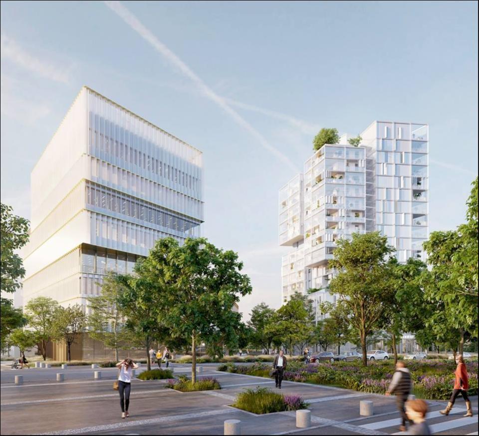 171 Rue de Vern - Vue depuis le Boulevard Paul Hutin Desgrées © Brenac & Gonzalez - Line Up