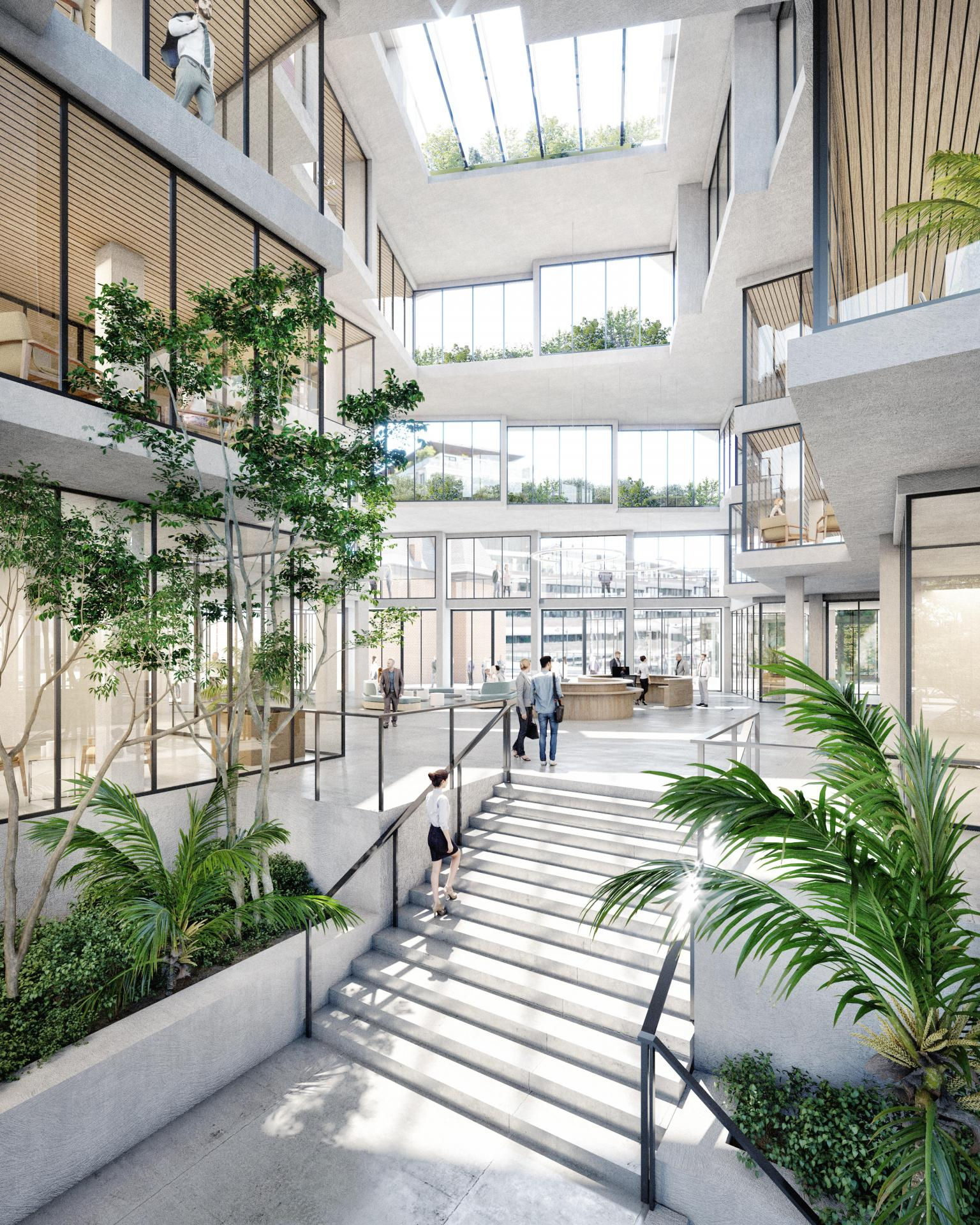 Siège Samsic - Vue du hall 2 © Maurer & Gilbert Architectes