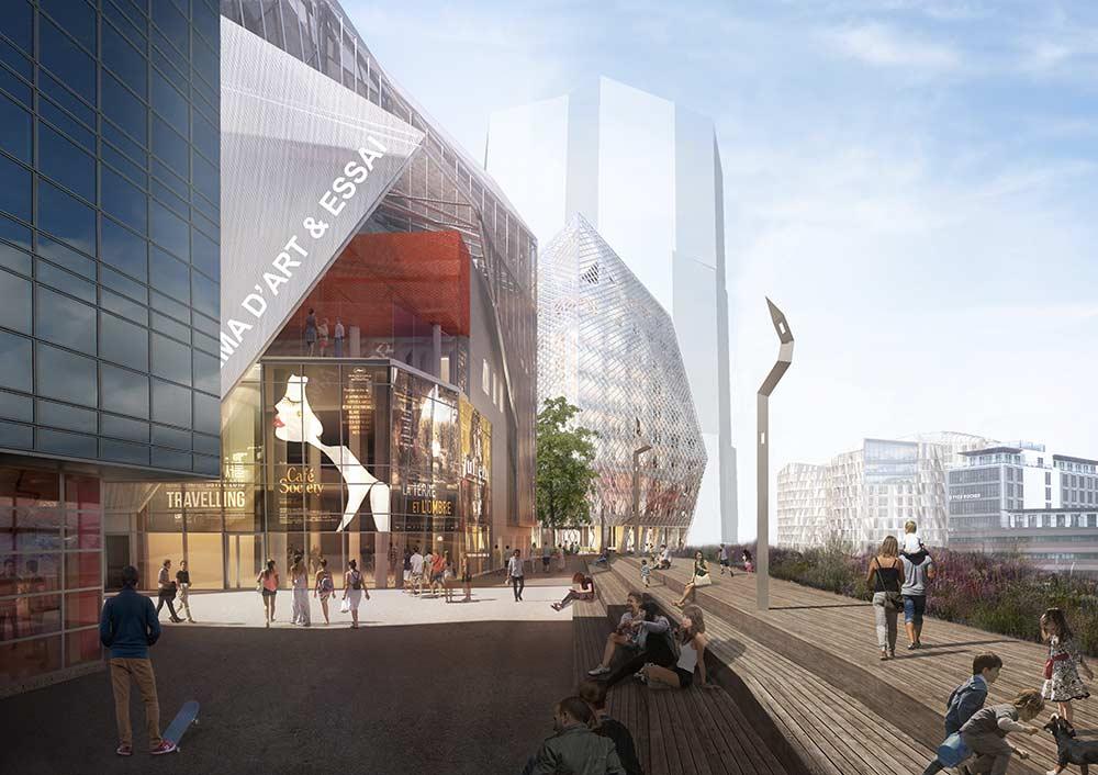 Paysage construit - Quai feval vers le cinema L'Arvor