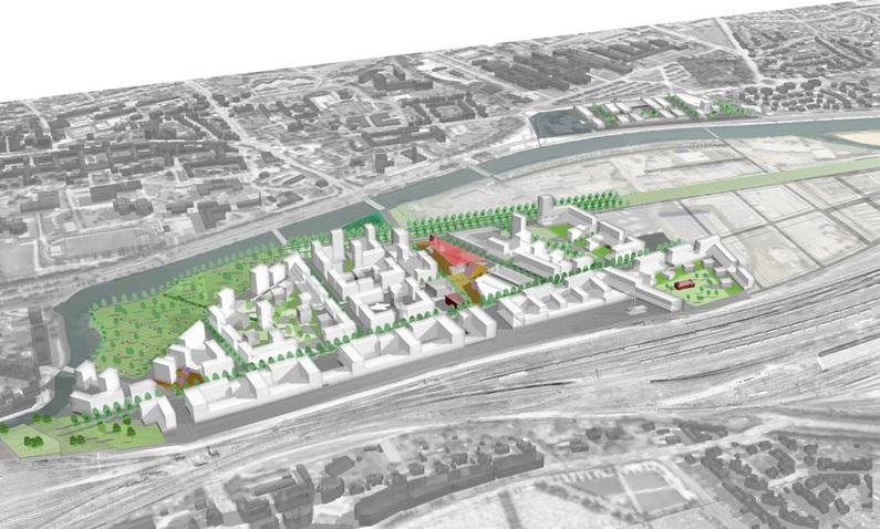 Zac baud chardonnet rennes pont projet urbain