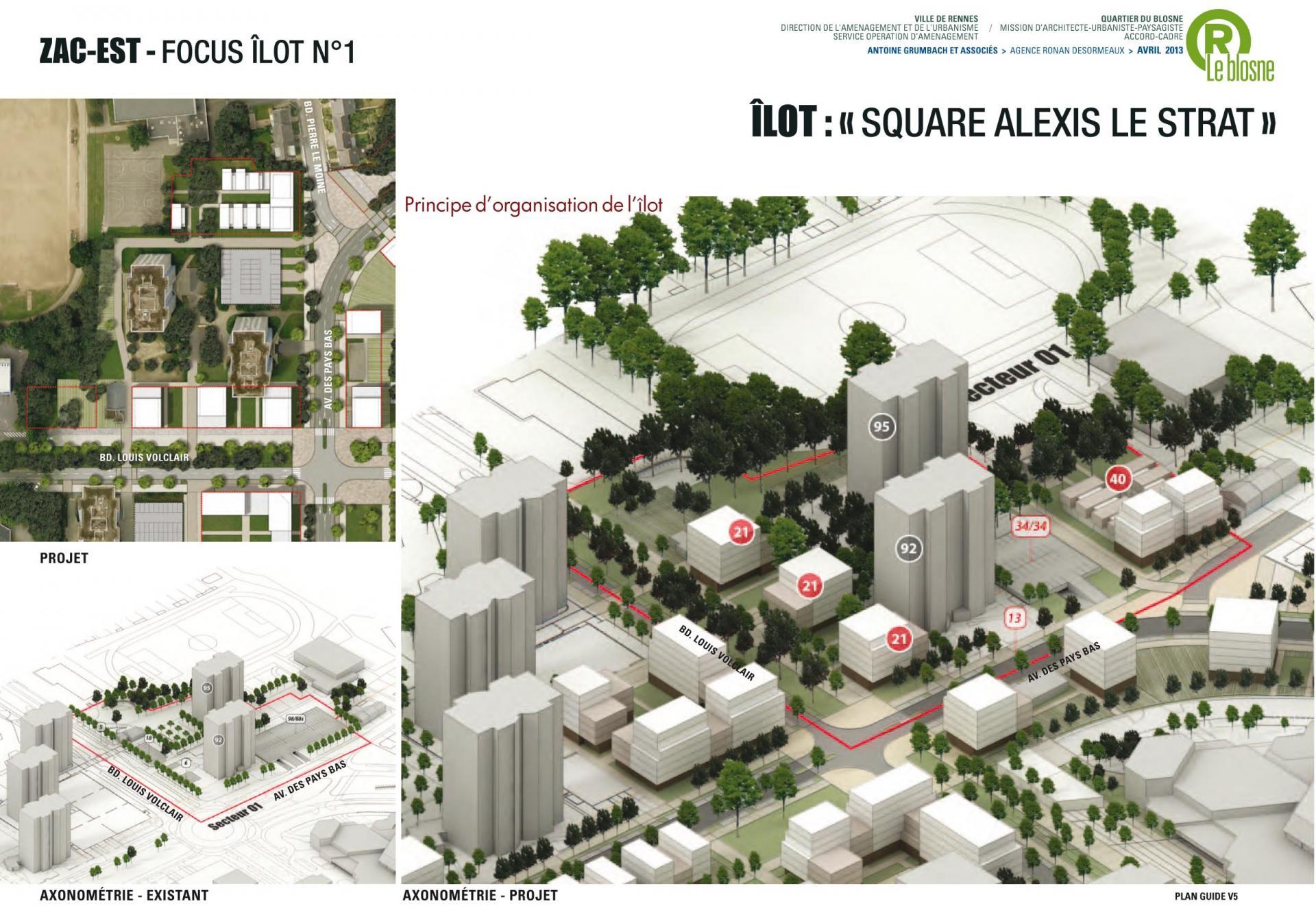 ZAC Blosne-Est - Ilot Square Alexis Le Strat 2 © Antoine Grumbach