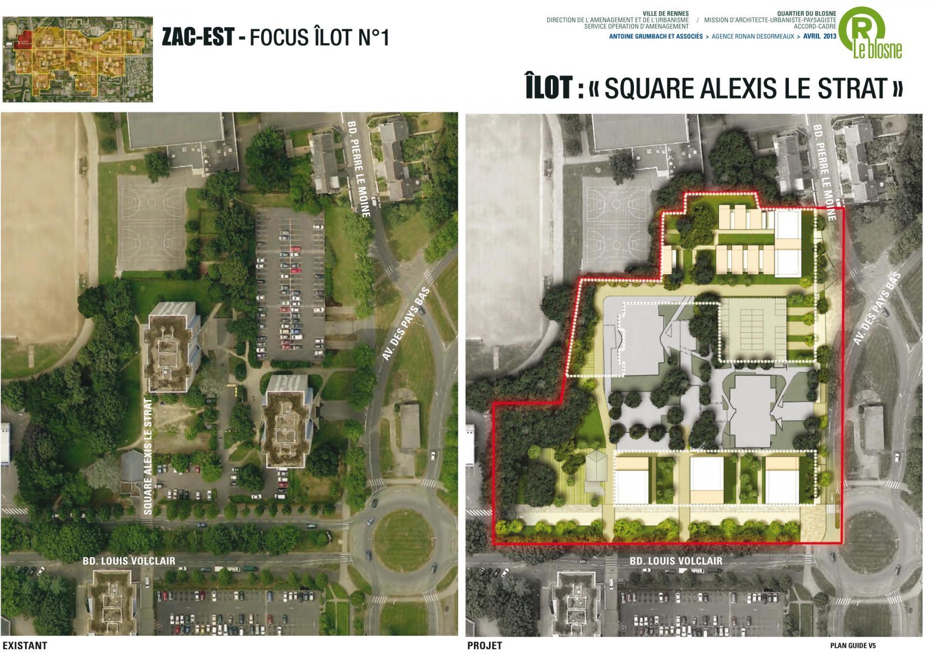 ZAC Blosne-Est - Ilot Square Alexis Le Strat © Antoine Grumbach