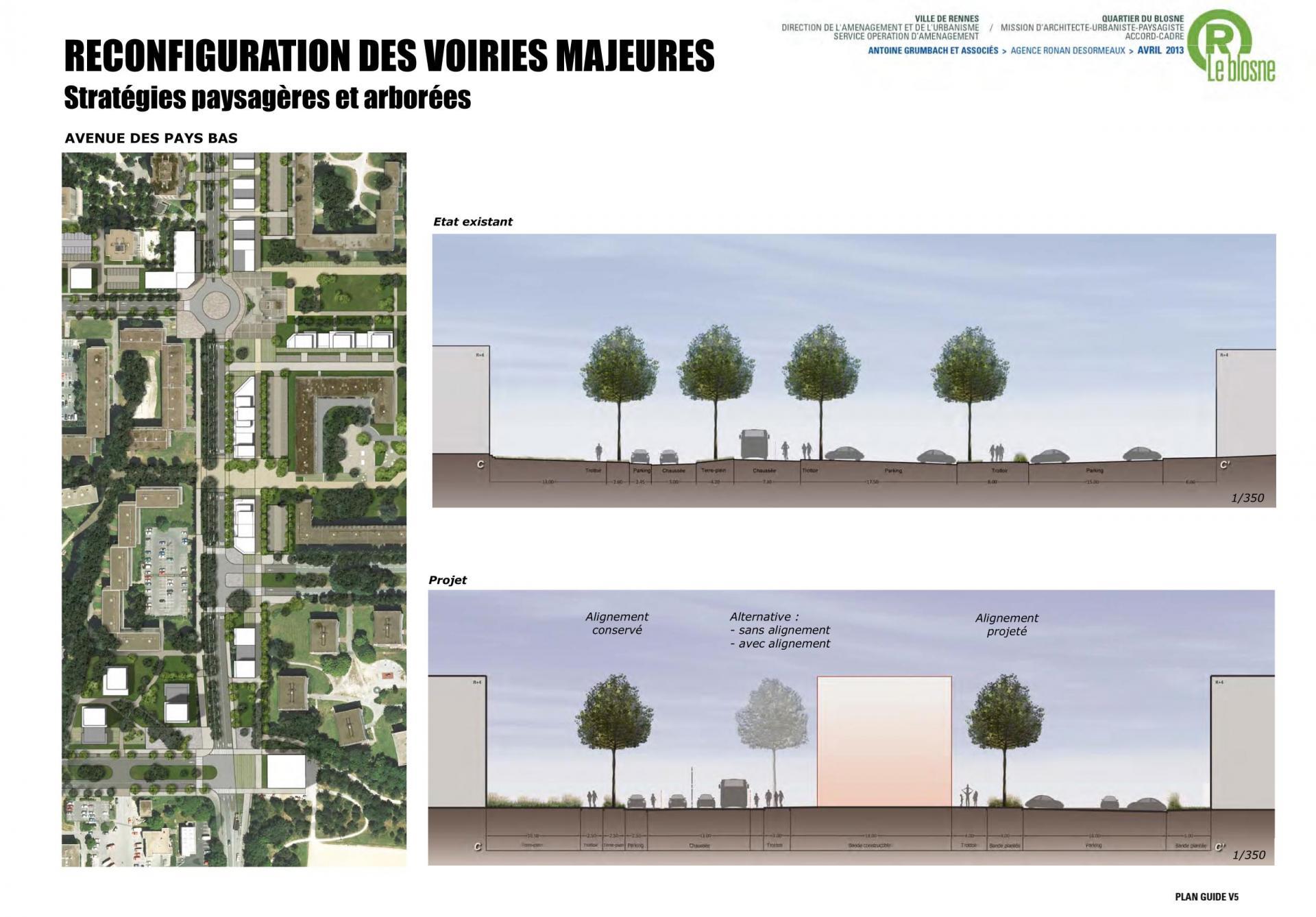 ZAC Blosne-Est - L'Avenue des Pays-Bas 2 © Antoine Grumbach
