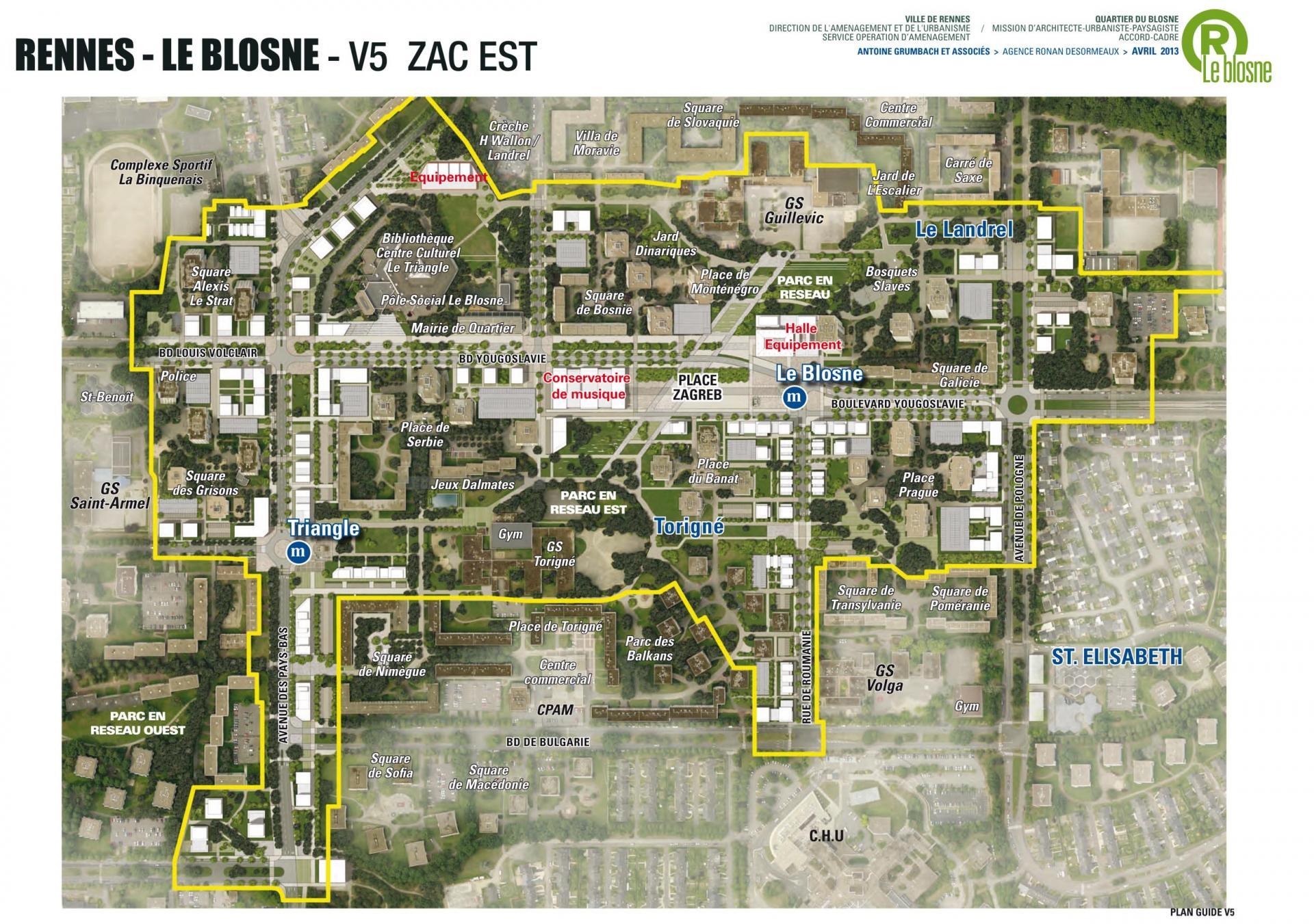 ZAC Blosne-Est - Plan guide V5 © Antoine Grumbach