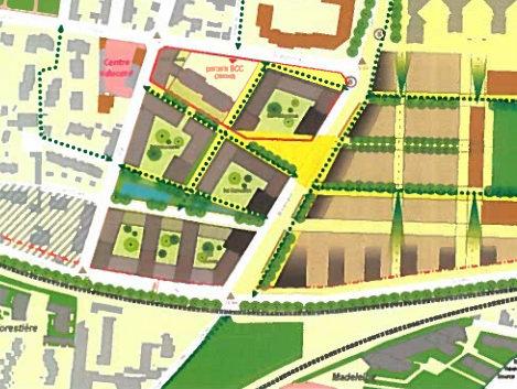 ZAC Guines - Plan masse © Ville de Rennes