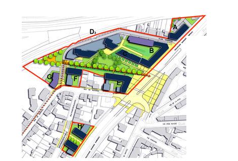ZAC Madeleine - Plan masse © Atelier du Canal