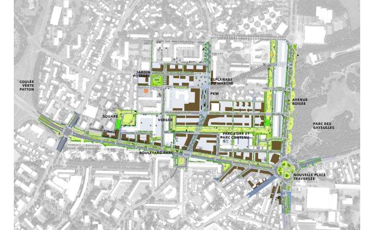 ZAC Maurepas-Gayeulles - Espaces publics © Atelier Ruelle
