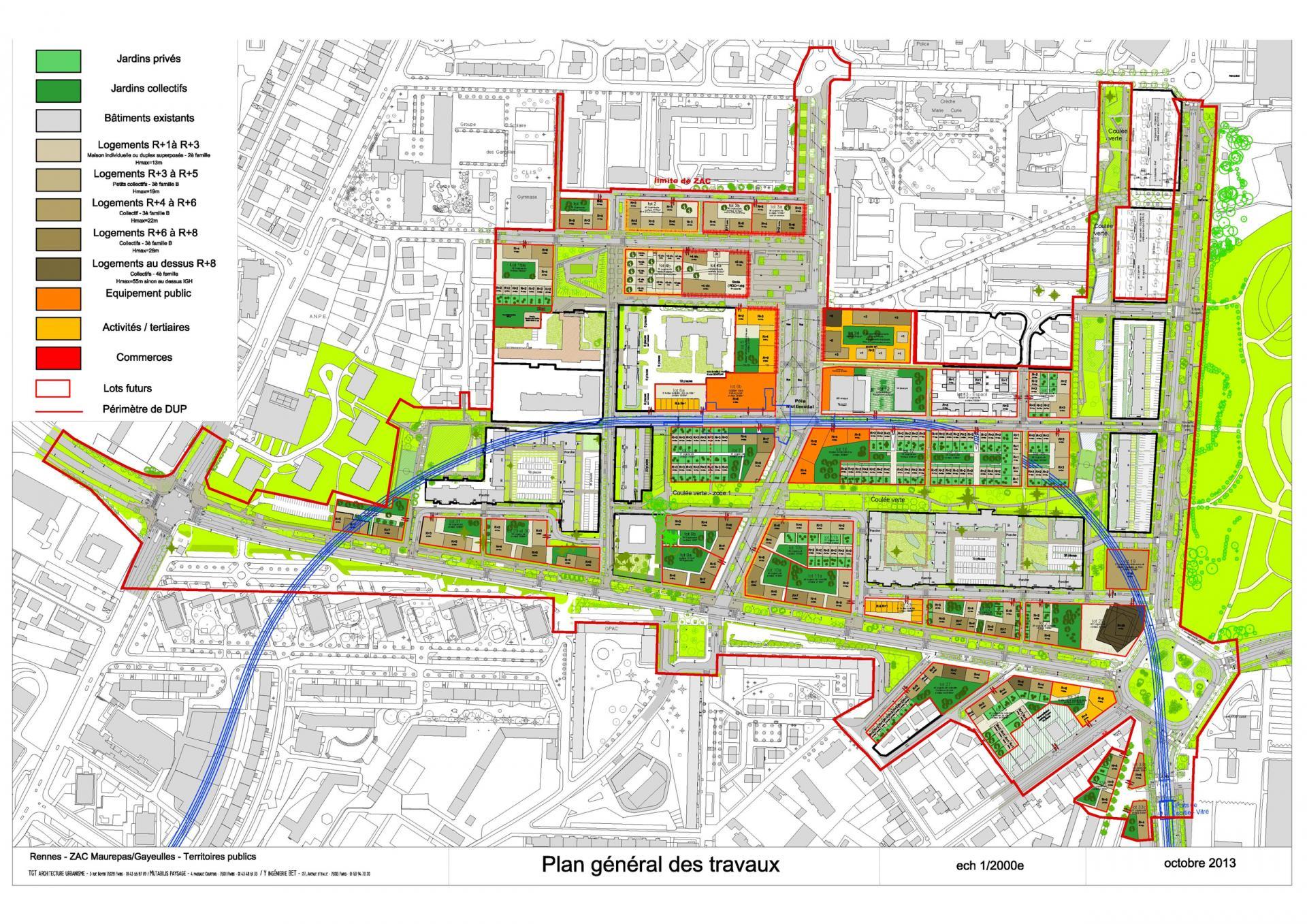 ZAC Maurepas-Gayeulles - Plan general des travaux