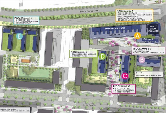 ZAC Normandie-Saumurois - Plan masse © Atelier du Canal