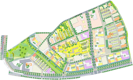 ZAC Vialsiva - Les Pierrins - Plan de masse - Phase 1 © Agence Devillers